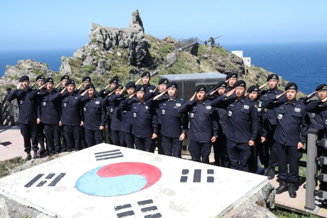 The South Korea-administered Dokdo Islets are at the center of a new dispute between Tokyo and Seoul. File Photo by Yonhap