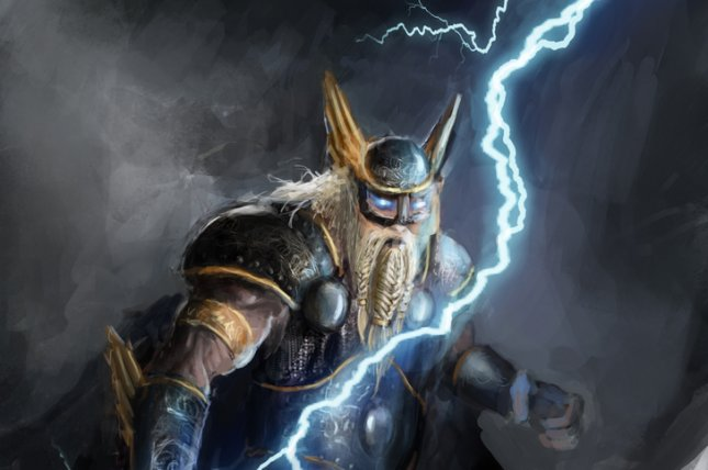 Thor, the Norse god of lightning, will be one of the gods worshiped at the new temple. Fotokostic/Shutterstock