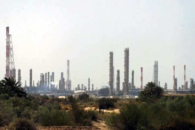 Armed drones attacked two oil pumping stations in Saudi Arabia on Tuesday, government officials said. File Photo by EPA-EFE