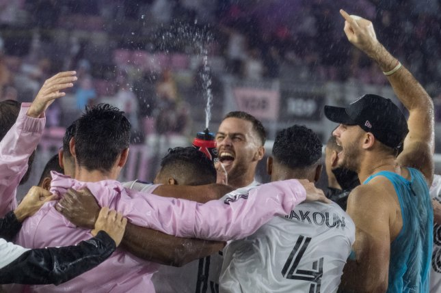Major League Soccer team Inter Miami CF (pictured) clinched a spot in the playoffs in their first season with a win over FC Cincinnati on the final day of the regular season on Sunday in Fort Lauderdale, Fla. Photo courtesy of MLS Soccer/Inter Miami CF