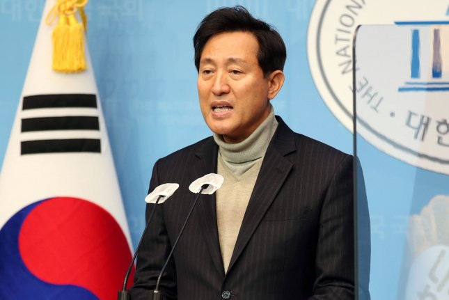 Former Seoul Mayor Oh Se-hoon, a candidate for the Seoul mayoral by-election, was chosen to represent the main opposition People Power Party on Thursday. Photo by Yonhap/EPA-EFE