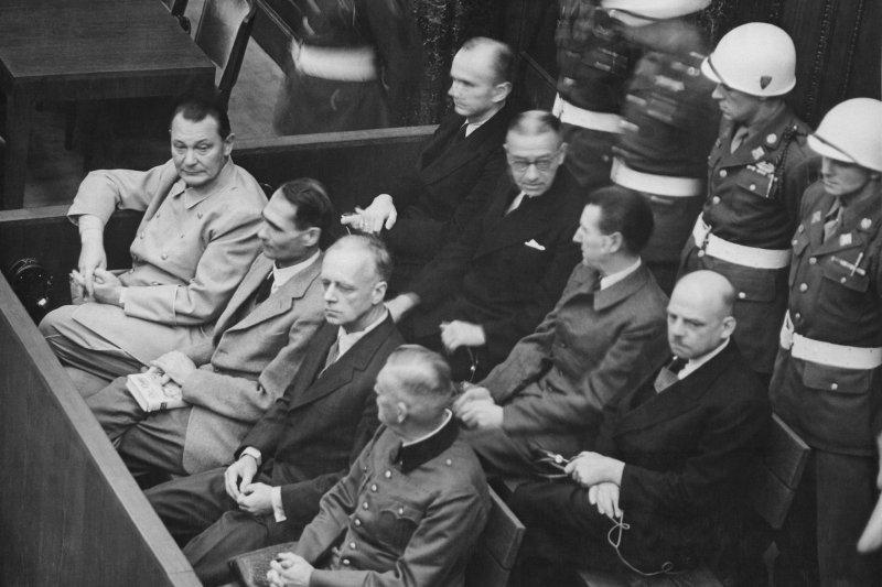 On November 20, 1945, 24 German leaders went on trial at Nuremberg before the International War Crimes Tribunal. File Photo by U.S. Army