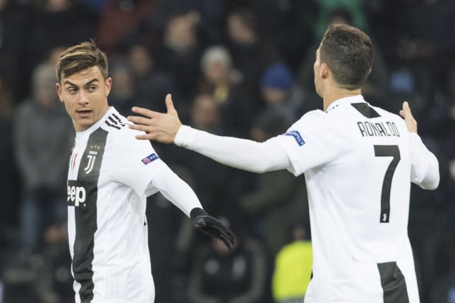 f6c256797 Juventus  Paulo Dybala (L) and Cristiano Ronaldo react after the UEFA  Champions League group H soccer match between BSC Young Boys and Juventus  FC on ...