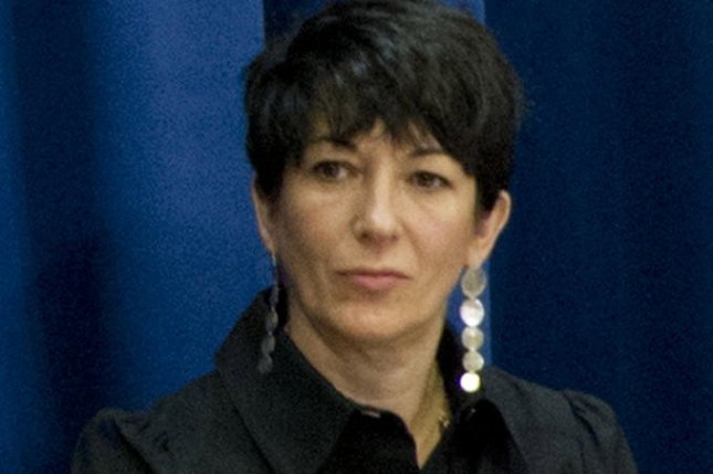 British socialite Ghislaine Maxwell, 58, a longtime associate of accused sex trafficker Jeffrey Epstein, was transported by U.S. Marshals Monday to a New York detention center to face federal sex-trafficking charges. File photo by Rick Bajornas/EPA-EFE/RICK