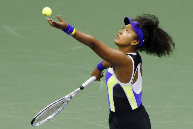 Naomi Osaka (pictured) beat 93rd-ranked Shelby Rogers 6-3, 6-4 to set up a match against No. 28 seed Jennifer Brady in the semifinals. File Photo by Jason Szenes/EPA-EFE