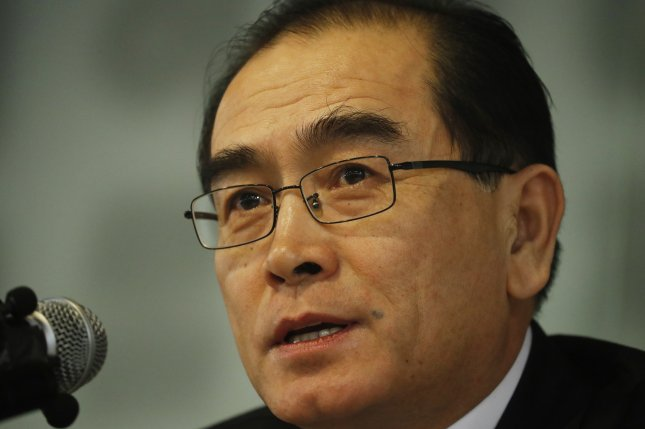 Defector Thae Yong-ho was the target of a cyber breach, a South Korean security firm confirmed Monday. File Photo by Jeon Heon-Kyun/EPA-EFE