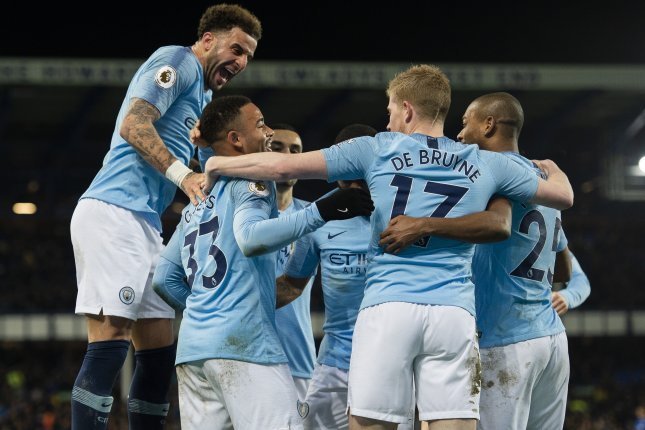 Manchester City now leads Liverpool on the Premier League table based on goal differential. Photo by Peter Powell/EPA-EFE