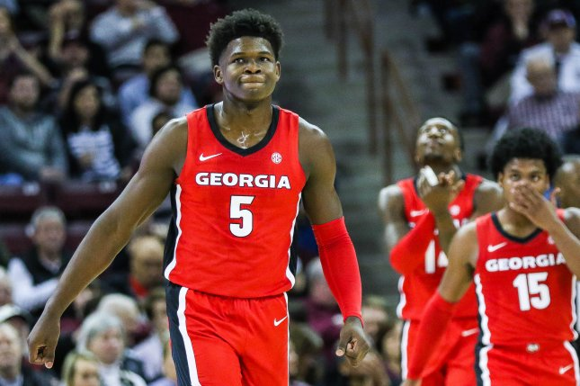 Former Georgia guard Anthony Edwards (5) is expected to be one of the first players selected in the 2020 NBA Draft on Wednesday on ESPN. Photo courtesy of Wikimedia Commons/Gamecock Central