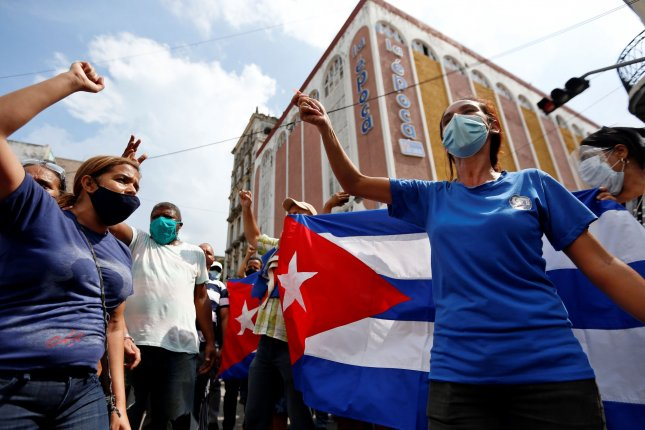 North Korea drew attention to rallies in Cuba in support of the government in a statement issued Thursday. File Photo by Ernesto Mastrascusa/EPA-EFE