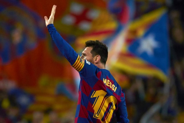 FC Barcelona forward Lionel Messi has been a free agent since his previous contract expired in late June. File Photo by Alejandro Garcia/EPA-EFE