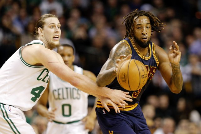 Cleveland Forward Derrick Williams Gets Past Kelly Olynyk L During A Game In March While The Celtics Are No 1 Seed East Cavaliers Have