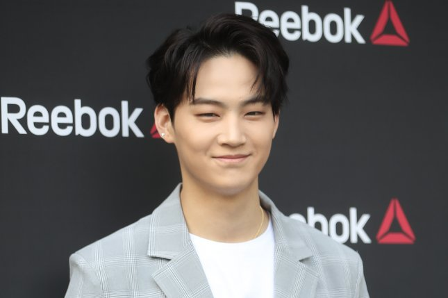 JB and GOT7 promote Reebok shoes in Seoul, South Korea, on May 26. The singer and Jinyoung released their second album as the duo JJ Project in July. File Photo by Yonhap News Agency/EPA