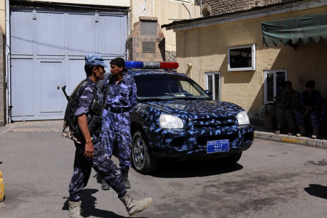 Russia evacuated its officials from the embassy in Sanaa, Yemen, pictured April 9, over violence in the capital city. File Photo by Yahya Arhab/EPA-EFE