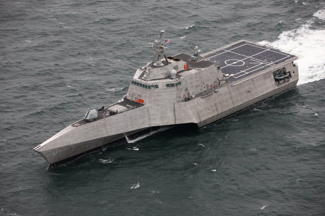 The future littoral combat ship USS Cincinatti is seen during acceptance trials. Photo by Cmdr. Patrick Evans/U.S. Navy