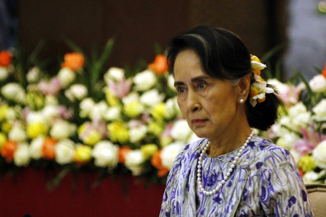 On Wednesday, the U.S. Holocaust Memorial Museum revoked a human rights award to Myanmar leader Aung San Suu Kyi, which it had given her in 2012. File Photo by Hein Htet/EPA