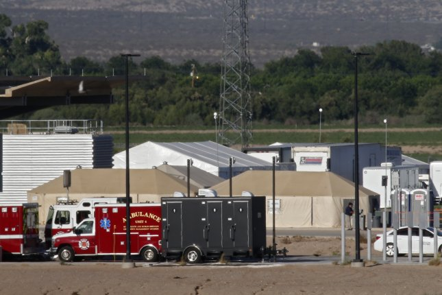 The Tornillo temporary shelter held a high of 2,800 migrant children in December. File Photo by Larry W. Smith/EPA-EFE