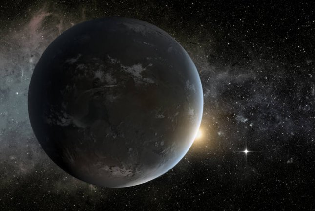 An artists concept of a planet orbiting in the habitable zone of a K star. Image by Tim Pyle/JPL-Caltech/NASA Ames