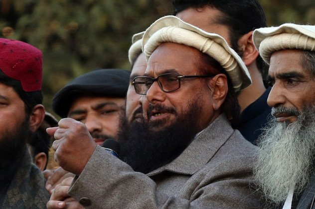 Hafiz Saeed, the alleged mastermind of the 2008 Mumbai terror attack that killed 166 people, has been slapped with a prison sentence of more than five years in Pakistan in a terrorism financing case. File photo by Rahat Dar/EPA-EFE