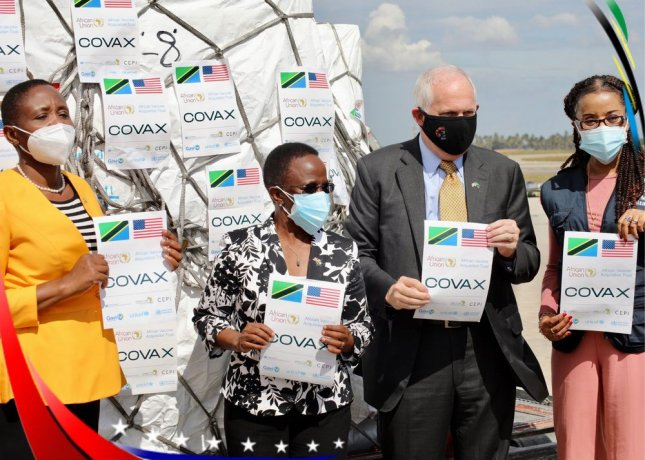 The U.S. Embassy in Tanzania announced Saturday that the United States has provided Tanzania with over one million doses of Johnson & Johnson COVID-19 vaccine. Photo courtesy of the U.S. Embassy Tanzania/Twitter