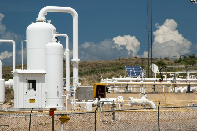 A pipeline compressor station pictured in Texas. New research has revealed evidence of well water contamination in the Eagle Ford Shale region. Photo by Jim Parkin/Shutterstock