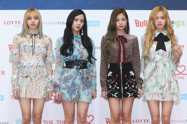 Black Pink attend the Gaon Chart K-pop Music Awards in Seoul, South Korea, on February 22. File Photo by Yonhap News Agency