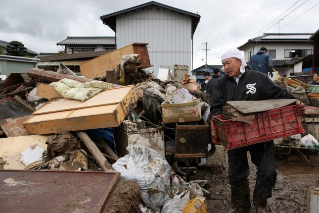 The death toll in Japan for Typhoon Hagibis rose to 73 on Tuesday. Photo courtesy of EPA-EFE