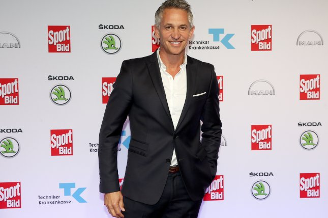 Former English soccer player Gary Lineker will co-host the 2018 World Cup draw Friday in Russia. Photo by Axel Heimken/EPA