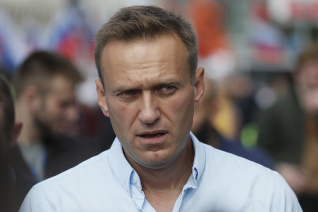 Russian activist Alexei Navalny attends a rally to support opposition candidates in the Moscow City Duma elections, in downtown Moscow, Russia, on July 20. Photo by Sergei Ilnitsky/EPA-EFE