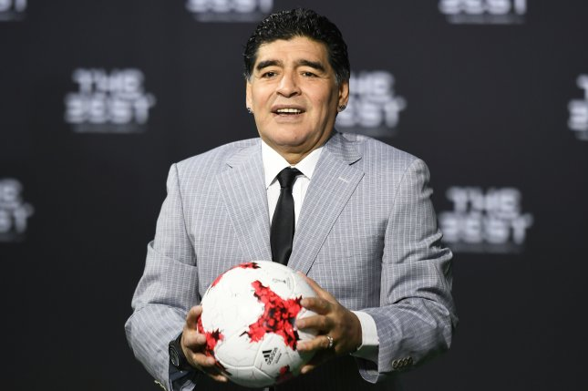 Argentinian soccer legend Diego Maradona, one of the best players in history, died at age 60 Wednesday from a heart attack. Photo by Walter Bieri/EPA-EFE