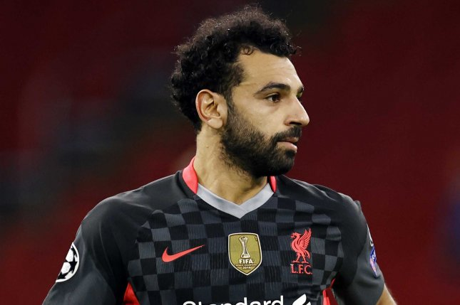 Mohamed Salah and Liverpool beat Ajax 1-0 in their first game of the 2020-2021 UEFA Champions League on Wednesday at Johan Cruijff Arena in Amsterdam in the Netherlands. Photo by Maurice Van Steen/EPA-EFE