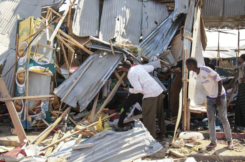 At least 14 killed in Mogadishu market blast