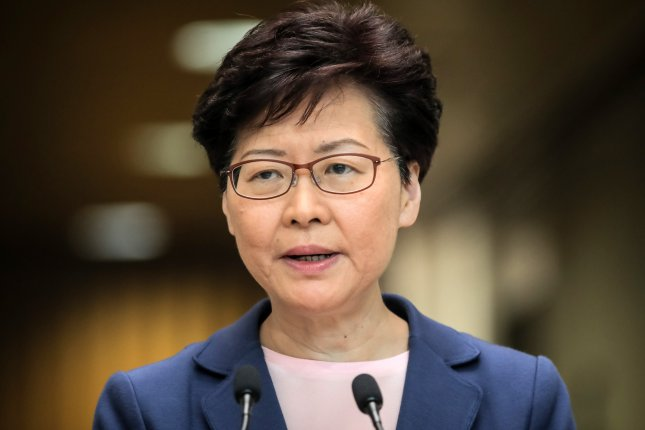 Hong Kong's Chief Executive Carrie Lam has approved new laws that discourage criticism of the Chinese government. Vivek Prakash/EPA-EFE