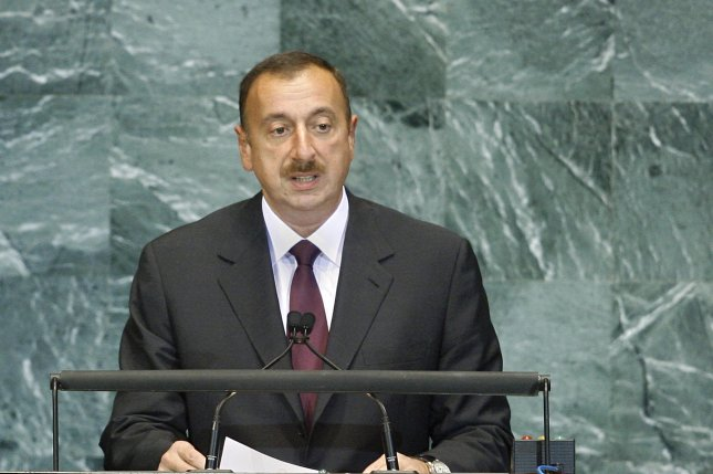 Ilham Heydar oglu Aliyev, President of the Republic of Azerbaijan, addresses the General Assembly at the United Nations in 2010. Aliyev secured a third term in office in Wednesday's election by a vast majority. (UN Photo/Rick Bajornas)
