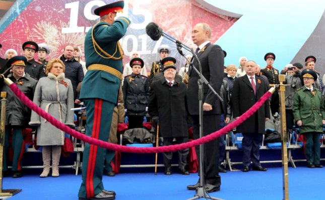 Russian President Vladimir Putin attends the Moscow military parade marking the 72nd anniversary of victory in World War II on Tuesday. Photo courtesy of the Kremlin