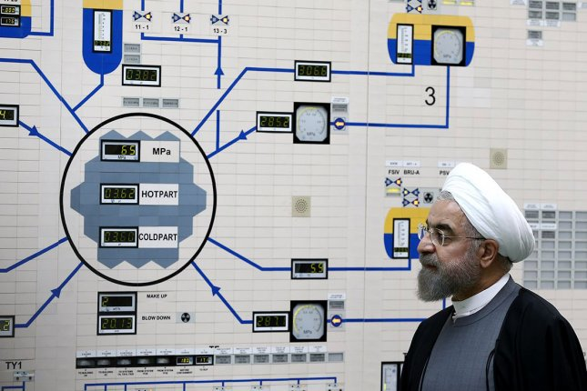 Iranian President Hassan Rouhani visits the Bushehr nuclear power plant in Bushehr, Iran. Photo courtesy Iranian Presidency office/EPA-EFE