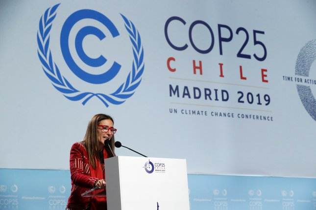 Chilean Environment Minister and President of COP25 Carolina Schmidt announced that negotiators failed to reach a deal on the Paris climate accord after two weeks of negotiations. Photo by ZIPI/EPA-EFE