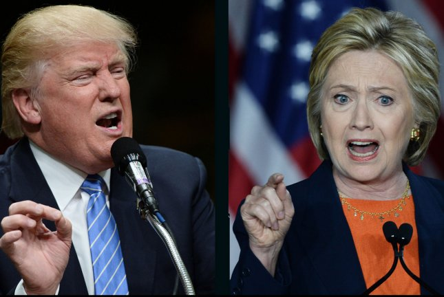 Presidential candidates Donald Trump and Hillary Clinton are locked in a virtual tie in the UPI/CVoter daily tracking poll released Wednesday. UPI file