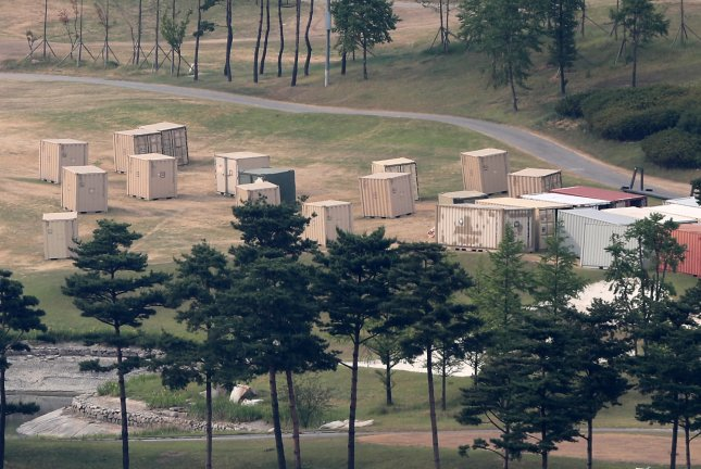 The head of the U.S. Missile Defense Agency visited the former South Korean golf course where THAAD is being deployed, according to a local newspaper. Photo by Yonhap News Agency/UPI