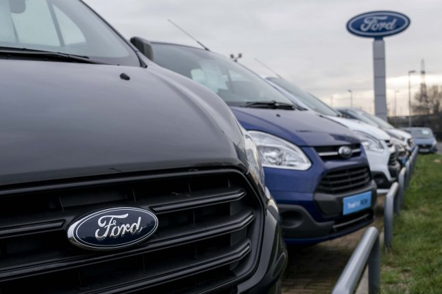 A general view of vehicles at a Ford Motor Company dealership close to the Ford plant in Dagenham, east London, Britain. File Photo by Will Oliver/EPA-EFE