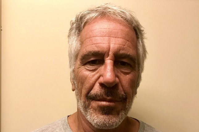 French modeling agent Jean Luc Brunel was arrested in Paris on charges related to allegations that his agency provided underage girls to Jeffrey Epstein, pictured here. Photo by New York State Division of Criminal Justice/EPA-EFE