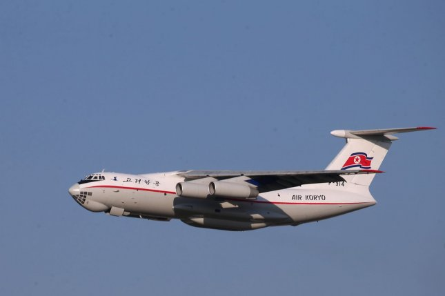 Several Ilyushin IL-76 transport aircraft, similar to the North Korean one pictured, belonging to China were spotted in the South China Sea, according to Malaysia. File Photo by Wu Hong/EPA-EFE