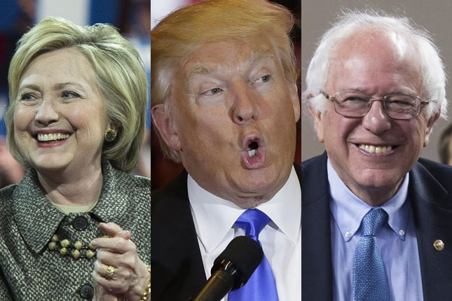 The issue of student loan reform is a rare one on which Hillary Clinton, Donald Trump and Bernie Sanders agree in principle on a basic piece of policy -- all three say the federal government should stop making money off interest paid by Americans with student loans. UPI file photo composite