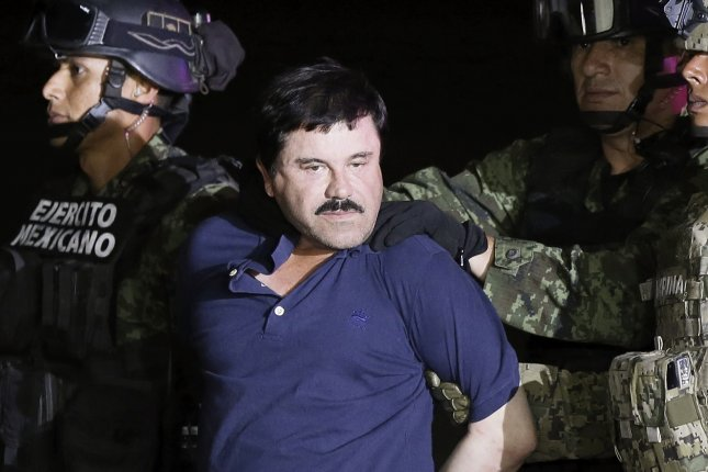 Mexican drug lord Joaquin El Chapo Guzmán, pictured here in January 2016, was extradited to the United States on Jan 19. Amnesty International has asked a federal judge for permission to send a researcher to inspect Guzmán's conditions at the Manhattan jail where he is being held. File Photo by Jose Mendez/EPA