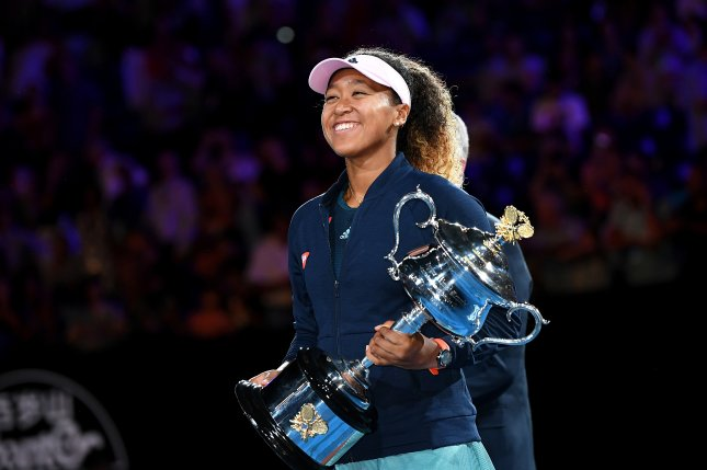 Naomi Osaka of Japan beat Petra Kvitova of the Czech Republic in the women's singles final at the 2019 Australian Open Grand Slam tennis tournament in Melbourne. Photo by Julian Smith/EPA-EFE
