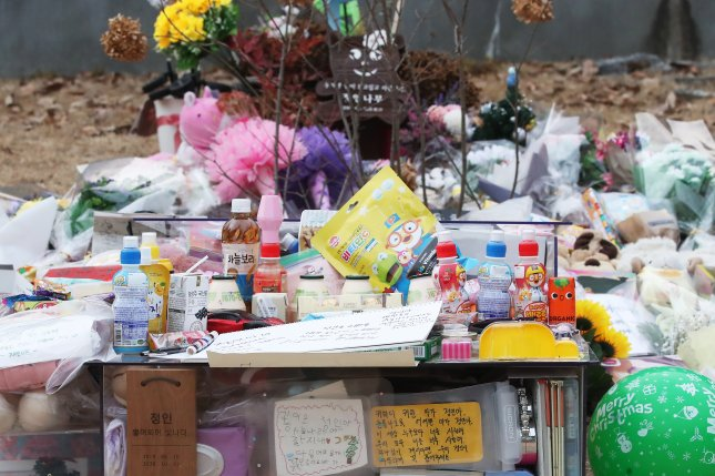 The death of a 16-month-old girl in October has sparked outrage and an outpouring of grief in South Korea. File Photo by Yonhap/EPA-EFE