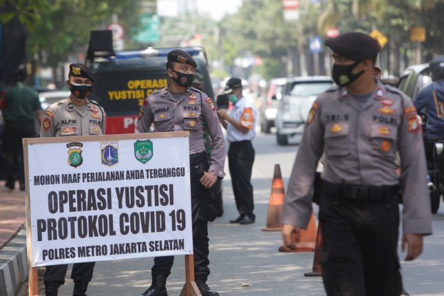 The governor of Indonesia's capital said Tuesday he tested positive for COVID-19 and is asymptomatic. File Photo by Adi Weda/EPA-EFE