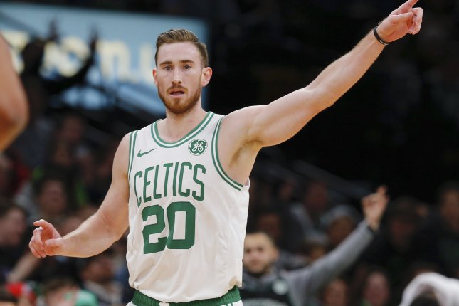 Boston Celtics forward Gordon Hayward becomes one of the biggest names to hit free agency this off-season. File Photo by CJ Gunther/EPA-EFE