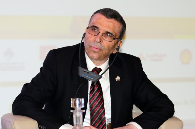 Mustafa Sanalla, board member of the Libyan National Oil Corporation, said the force majeure since Dec. 10 at the county's biggest field has been extended. Photo by Mohamed Messara/EPA