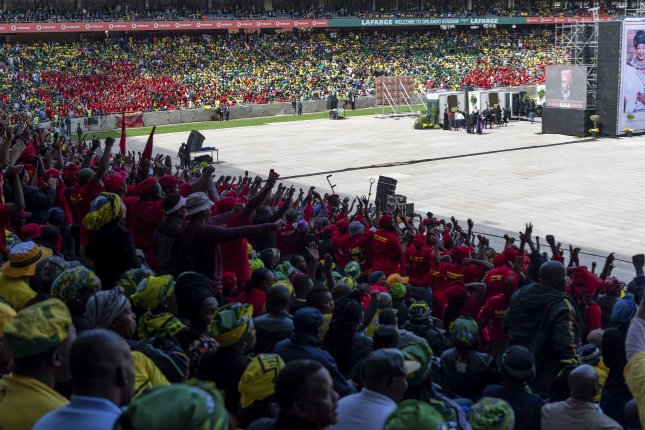 South Africans attended the official state funeral of Winnie Madikizela-Mandela at Orlando stadium in Soweto, Johannesburg, South on Saturday. EPA-EFE/STR