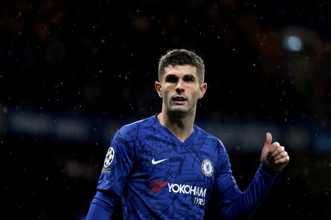 Chelsea's Christian Pulisic scored his ninth goal of the season, his first with Chelsea after a $73 million transfer from Germany's Borussia Dortmund last summer. It was his fourth goal since the Premier League resumed last month. File Photo by Will Oliver/EPA-EFE